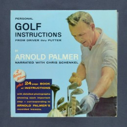 Arnold Palmer narrated with Chris Schenkel - Personal Golf Instructions From Driver Thru Putter - 2xLP (used)